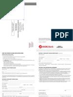 Ocbc Cda a4 Online Form