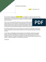 Carta para embajadas de El Salvador
