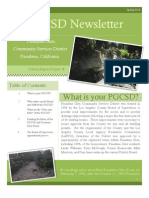 Pasadena Glen Community Services District Newsletter Spring 2013 Vol 1