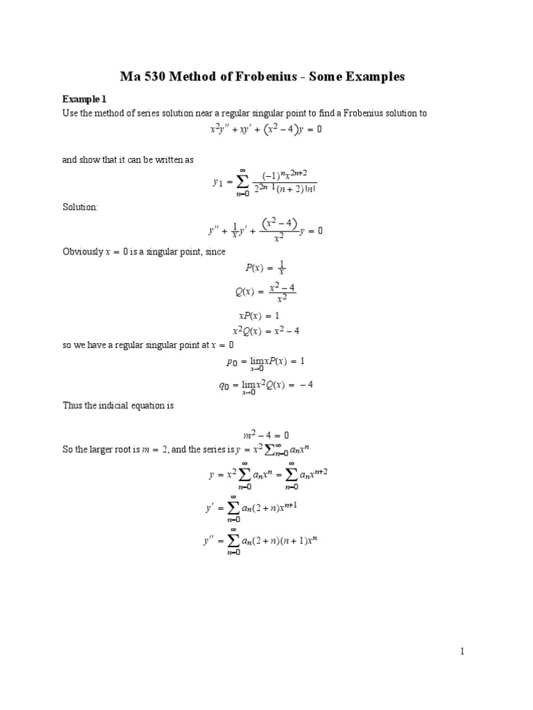 Frob Examples Pdf