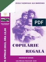 "Expozitie ""Copilarie regala"" la Arhivele Nationale ale Romaniei, POSTER"