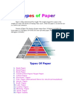 Types of Paper
