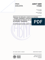 NBR 17240 - 2010 - Sistemas de detecção e alarme de incêndio