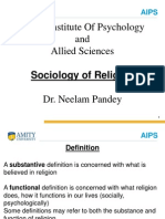 Sociology of Religion