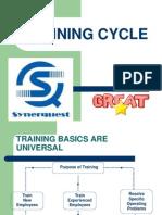 3. Training Cycle