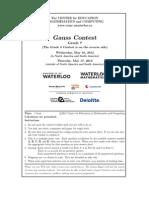 Gauss Combined g 7 Contest