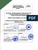 Manual de Delegada y Delegado de Las Secciones Individuales y Colecctivas de Trabajo