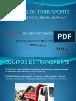 Presentacion Equipos de Transporte