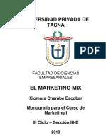 Monografia Del Marketing Mix - Xiomara Chambe Escobar