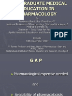 POSTGRADUATE MEDICAL EDUCATION IN PHARMACOLOGY