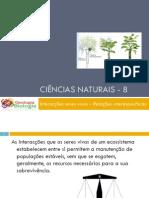 Powerpoint nr. 3 - Interacções seres vivos -Factores do Ambiente - relações interespecíficas