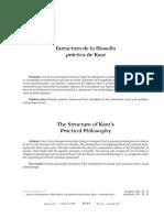 Estructura de la filosofía práctida de Kant- Roberto Casales García
