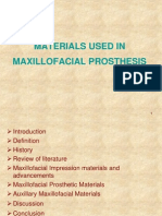 Materials Used in Maxillofacial Prosthesis