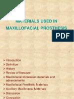 Materials Used in Maxillofacial Prosthesis