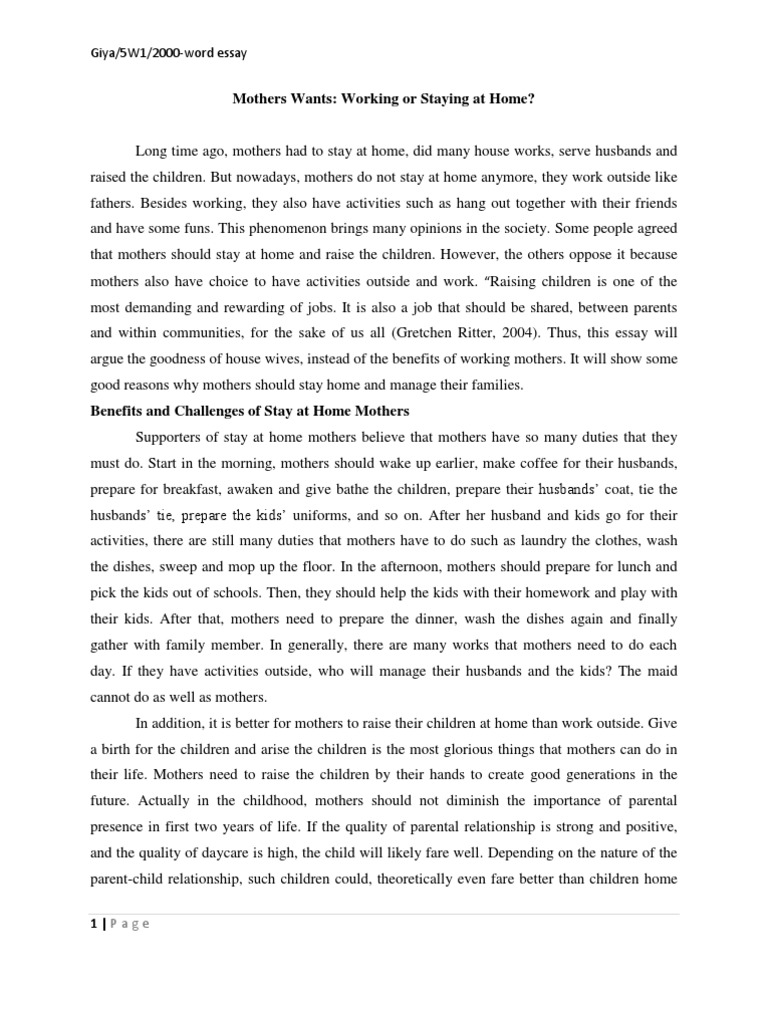 the life of working mothers in pakistan social work essay Traditionally work/life balance is assumed to involve the devotion of equal amounts of time to paid work and non-work roles however more recently the concept has been recognised as more complex and has been developed to incorporate additional components.