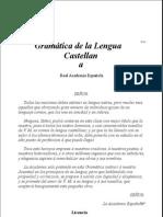 Real Academia Espanola Gramatica de La Lengua Castellana