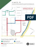 SMU Road Closure's April 24