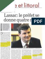 222 la dépêche 28 juin 2012 préfet Lassac