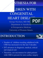 Anesthesia for Children With Congenital Heart Disease1