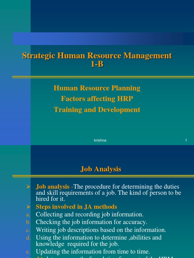 factors of human resource management