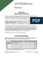Scoggins Report - April 2013 Spec Market Scorecard