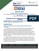 Raptor Pharmaceuticals Flies for VE Small Cap Stock Newsletter Subscribers