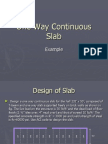 One Way Continuous Slab
