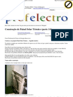 Construção de Painel Solar .