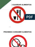 Prohibido Guardar Alimientos