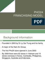 Pho24 franchising power point