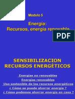 Clase 5, Energía, recursos, energía renovable