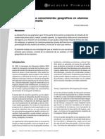 Evaluación de los conocimientos geográficos en alumnos de educación primaria. Ernesto Valenzuela.