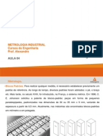 Metrologia Industrial - Aula 04