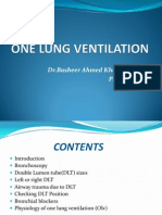 One Lung Ventilation