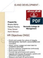 Training and Development of Ongc