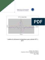 Análisis de eficiencia de algoritmos para calcular DFT y FFT