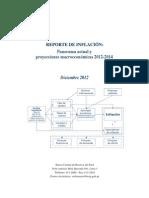 Reporte de Inflacion Diciembre 2012 BCRP