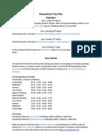 Snowdonia Trip Plan