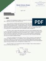 Dean Heller Letter on Background Checks (April 9, 2013)