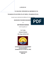 project Final Report on distribution channel
