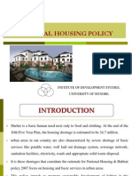 National Housing Policy