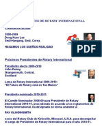 PRESIDENTES DE ROTARY INTERNATIONAL