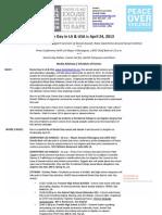 Denim Day in LA - 2013 Media Advisory