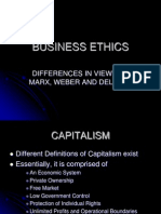 Distinction Between Marx and Webber on Capitalism