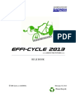 Effi-Cycle 2013 Rulebook