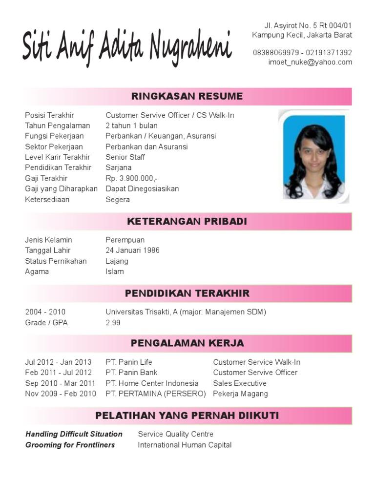 Contoh surat lamaran kerja  CV via email