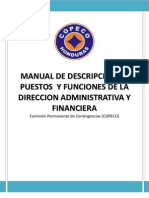 2 - Descripcion de Puestos y Funciones de La Direccion Adminitrativa y Financiera Version Final 2010