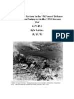The Decisive Factors in the UN Forces' Defense of the Pusan Perimeter in  1950 Korean War