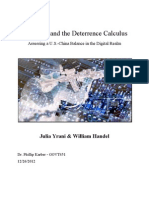 Cyberwar and the Deterrence Calculus