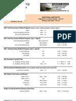 2013 Summer Schedule Paramus